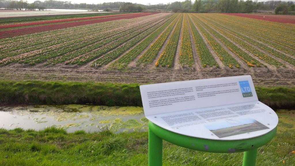 Verjongde infozuil bij Noordwijkerhout