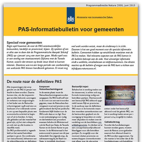 PAS-informatiebulletin voor gemeenten